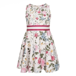 Girls Mix Floral Neoprene Dress