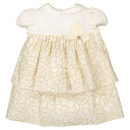 Baby Girls Tafeta Dress with Flowers
