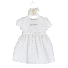 Baby Girls Dress with Embroidered Circles