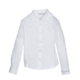 Girls Shirt with Frill Collar