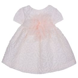 Baby Girls Pink Texturized Dress