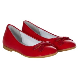 Girls Red Pumps with Bow