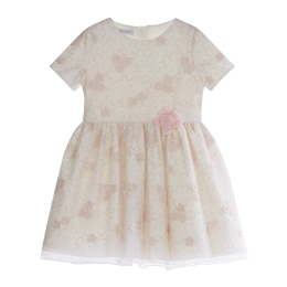 Girls Pink Dress with Embroidery
