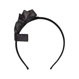 Girls Velvet & Denim Hairband