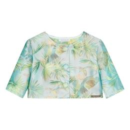 Girls Tropical Print Jacquard Bolero Jacket