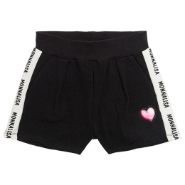 Girls Cotton Shorts With Heart Patch