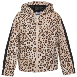 Girls Leopard Print Hooded Jacket