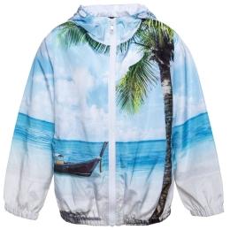 Boys Beach Print K-Way Jacket