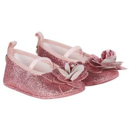 Baby Girls Pink Glitter Ballerinas