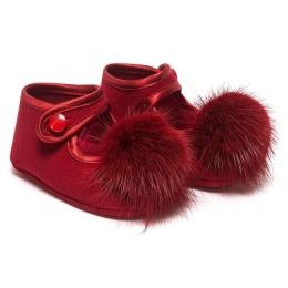 Baby Girls Pom-Pom Shoes