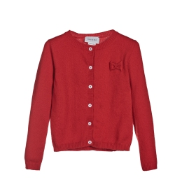 Girls Cardigan with Bow Detail