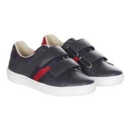 Boy's Navy Velcro Sneakers