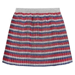 Girls Striped Lurex Skirt