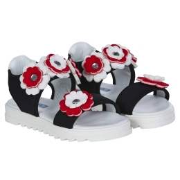 Girls Neoprene Sandals with Flowers