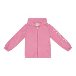 Girls Parachute Nylon Jacket With Tiger