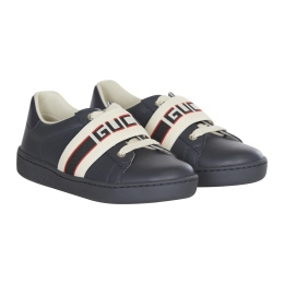 Leather Sneaker With Gucci Elastic Stripe