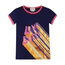 Girls Love Gucci Print T-shirt
