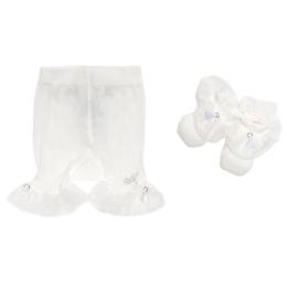 Baby Girls Diaper Cover & Socks Set