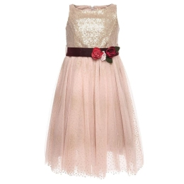 Girls Sequin Tule Dress