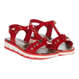 Girls Leopard & Rose Sandals