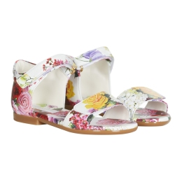 Baby Girls Floral Leather Sandals