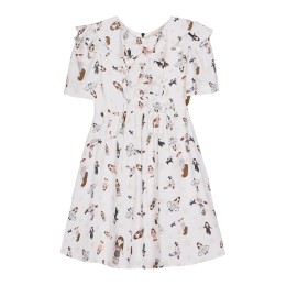 Girls Dress with Dolls