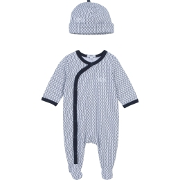 Baby Babygrow and Hat With HB Pattern