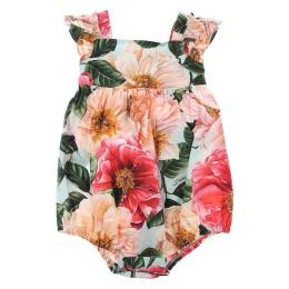 Baby Girls Camelia Print Romper Suit