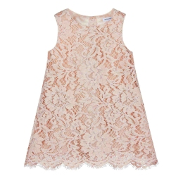 Baby Girls Lace A-line Dress With Diaper Cover