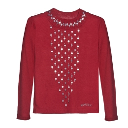 Girls Red Sweater with Sequins