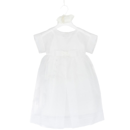 Girls White Silk Dress