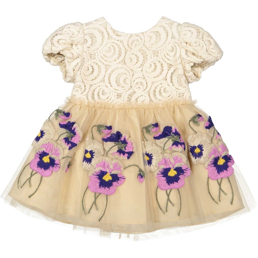 Baby girls dress with purple flowers of pinco pallino in baby liberdade baby girls dress with purple flowers pinco pallino mightylinksfo