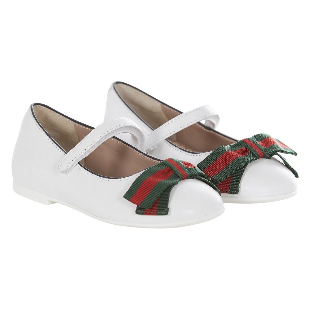 1c1d244eb520 Baby Girls Leather Shoes with Bow of GUCCI in Baby Liberdade