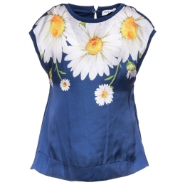 Girls Daisy Satin Top