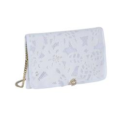 Girls Ivory Embroidered Bag