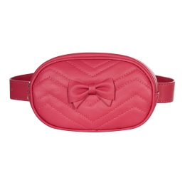 Girls Leather BeltBag With Bow