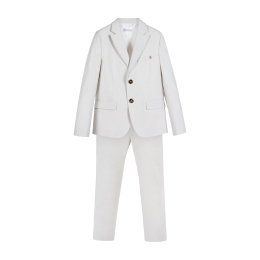 Boys Striped Cotton Suit with Pants