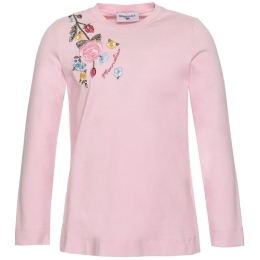 Girls Long Sleeve T-Shirt With Floral Embroidered