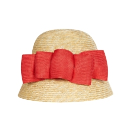Girls Straw Hat With Bow