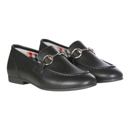 Boys Leather Horsebit Loafer
