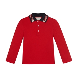 Baby Boys Polo With Gucci Stripe