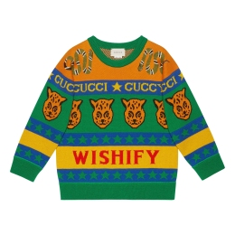 Boys Symbols Wool Cotton Sweater