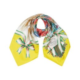 Girls Bouquet GG Print Neck Bow Scarf