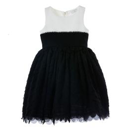 Girls Black and White Dress