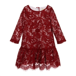 Girls Long Sleeve Lace Dress