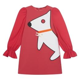 Girls Dog Print A-line Dress