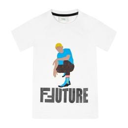 Boys Future Fendi Print T-Shirt