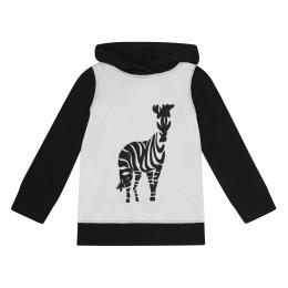 Girls Zebra Print Sweatshirt With Hood