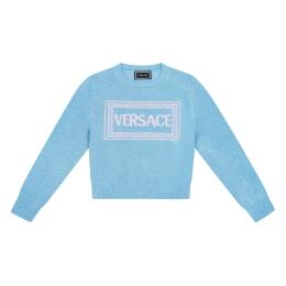 Girls Lurex Logo Sweater
