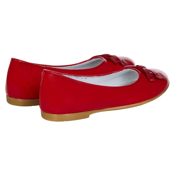 Girls Red Pumps with Bow PINCO PALLINO